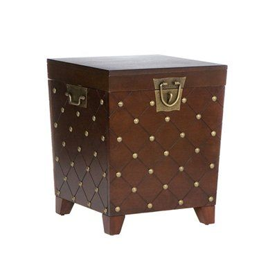 $150 ($140.99 @Wayfair)  20Sq X 24H Boston Loft Furnishings ATG5226 Nailhead Trunk End Table This Boston Loft Furnishings Table comes in an espresso finish.  Nailhead Trunk End TableWith