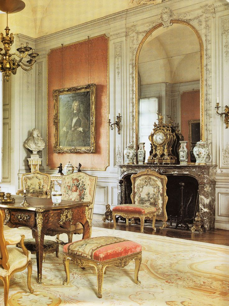 Salon In Abbots Palace At Chaallis Early 18th Century Book French Interiors Of