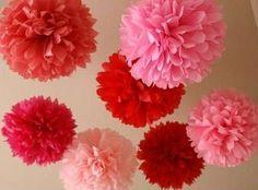 decoracion de amor y amistad con rojos y rosados