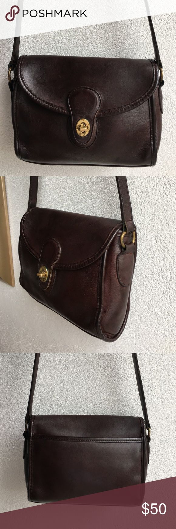 Vintage Coach Legacy Brown Crossbody Bag Vintage Authentic Coach Legacy Brown Crossbody Bag. Signs of wear and patina given bags age. Please look at pictures for better reference. Happy shopping!! Coach Bags Crossbody Bags