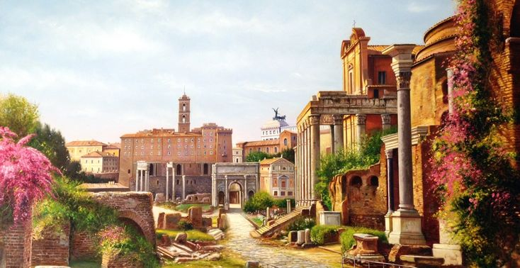 Il Foro Romano simbolo della culla del diritto e della civiltà moderna. Roma è al centro dell'Europa, può giocare un ruolo di assoluta protagonista utilizzando l'enorme potenzialità del progetto dell'Unione Europea attraverso la cooperazione economica con la nazione Bulgara.