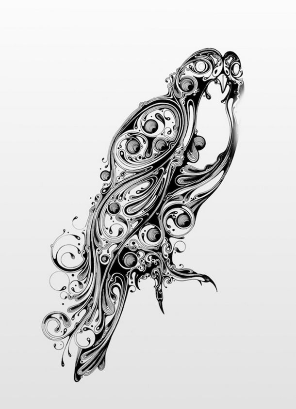 滑らかな渦で描かれたワイルドアニマルな手描きアート | roomie(ルーミー)