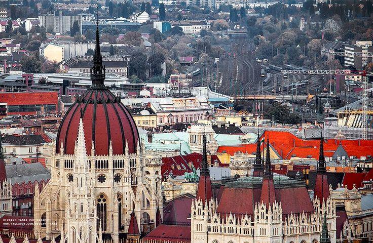 Budapest - Parlament és a Nyugati pályaudvar