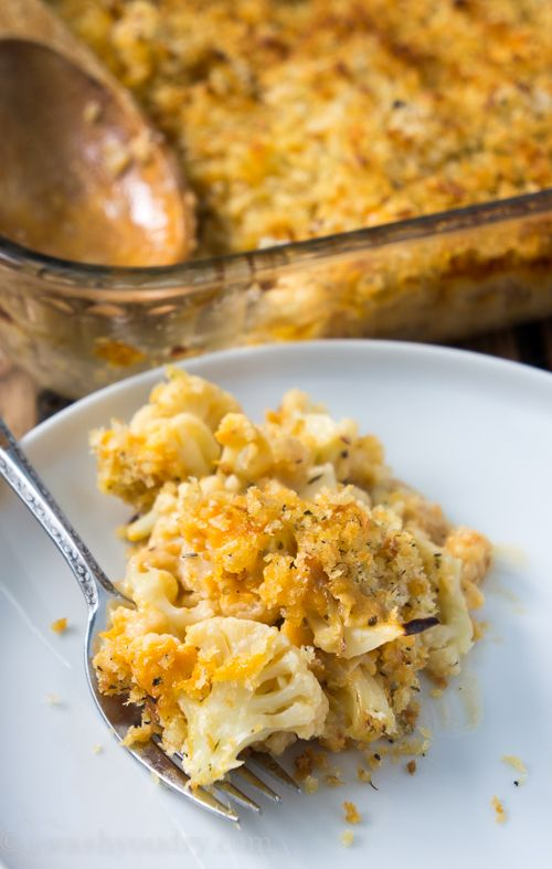 Cheesy Cauliflower Au Gratin. This is one amazing side dish. Perfect for your Thanksgiving feast, or an evening dinner! :)