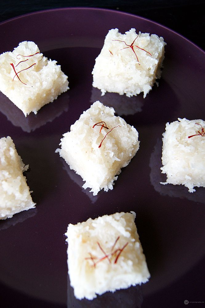 A easy and delicious sweet made with coconut. If you just started to learn cooking and want to make an Indian sweet, this is probably the one you should try.