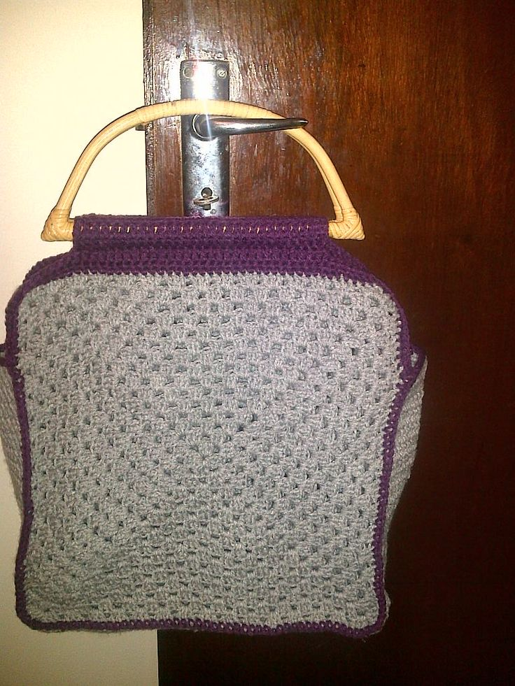 My Granny Square hold all bag for my crocheting.