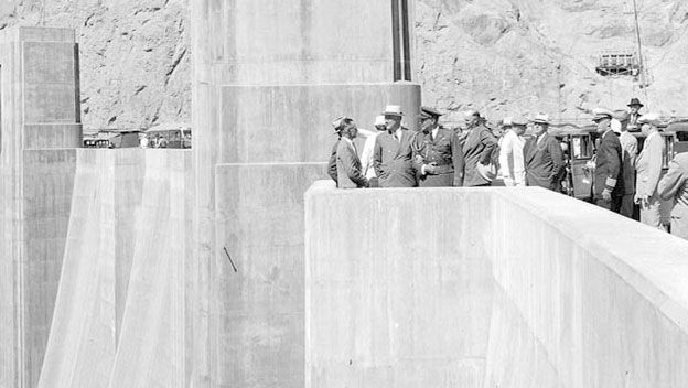 Hoover Dam Dedication by Roosevelt who was responsible for the construction