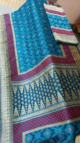 Songket sriwijaya in blue