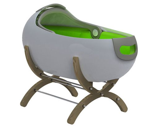 Cascara from Babycotpod. A Modern Carrying Cocoon-like Bassinet.