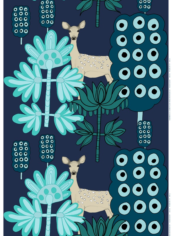 Off to the Woods: Marimekko´s Autumn 2012. Kaunis Kauris (Capricorn), Design: Teresa Moorhouse for Marimekko