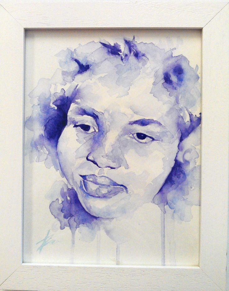 Mimi's mum, watercolour portrait by Tasneem Kamies for KIN on Kloof's Mother's Day window exhibition  For more info on this exhibit- http://bit.ly/1rBb0yS  kinshop.co.za - growing local art & design