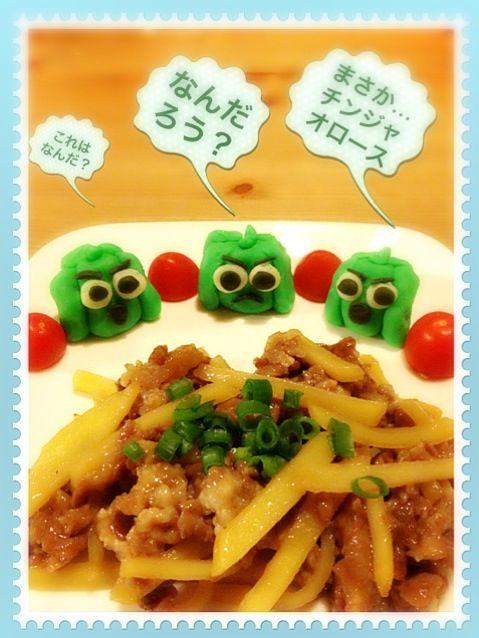 ピーマン嫌いな子でも  食べられる チンジャオロース……って   自分のことだった~ 今年はピーマン嫌い克服するぞ~ - 172件のもぐもぐ - ピーマンたちに怒られた じゃがいもチンジャオロース(;≧д≦) by kumineko