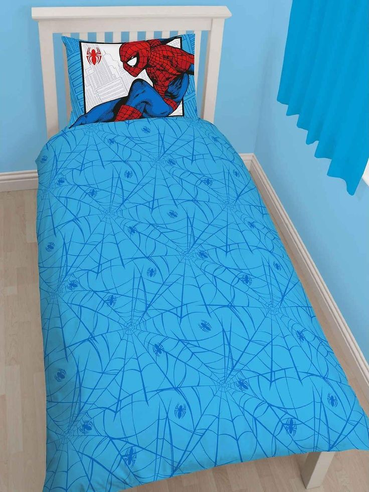 Spiderman Parker Single Duvet Cover Set Polycotton | Fruugo