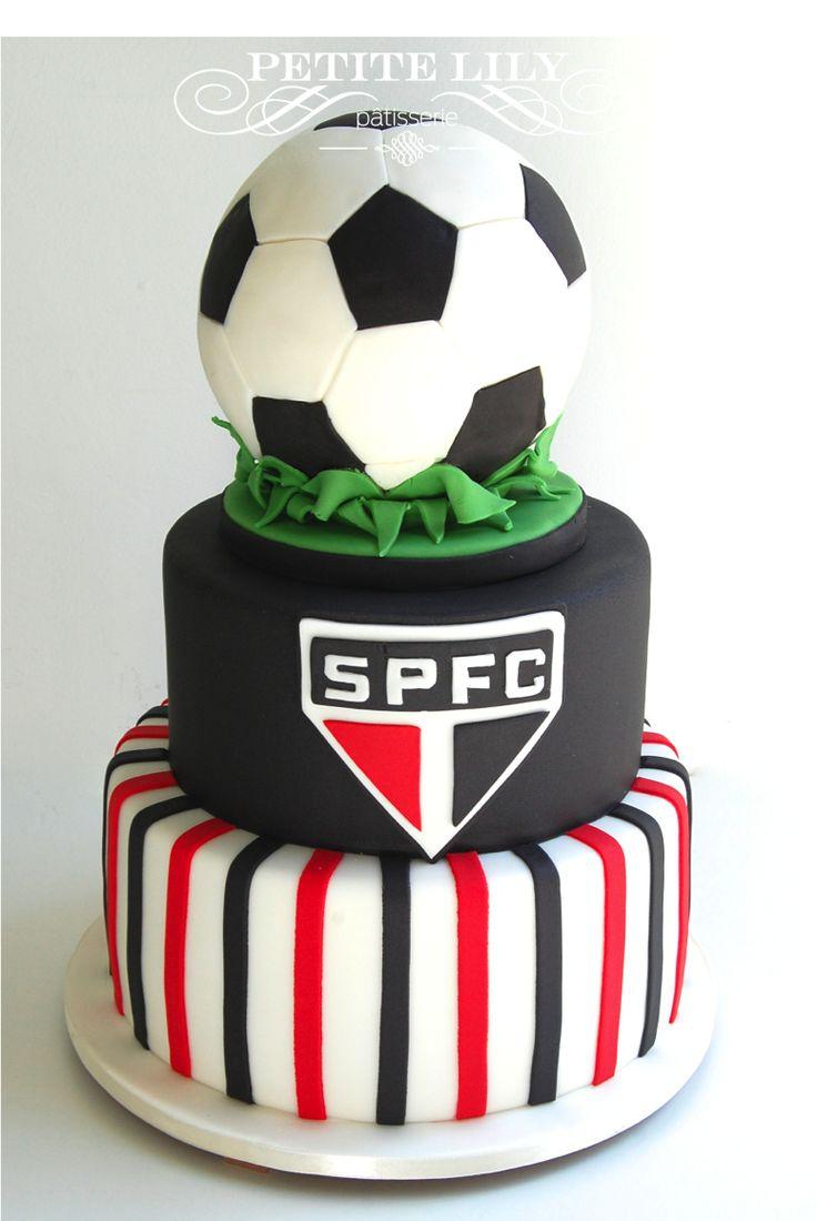 Soccer themed cake/ Bolo de futebol / SPFC cake