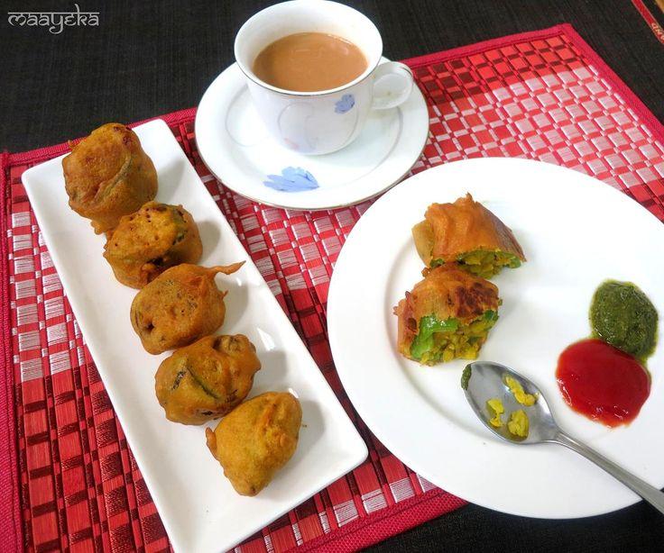 Corn Mirchi Vada /Corn Stuffed Jalapeno | Maayeka - Authentic Indian Vegetarian Recipes