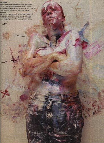 Jenny Saville by Nigel Parry for the Sunday Times magazine