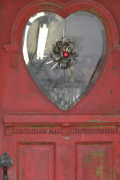 Heart Glass in Door