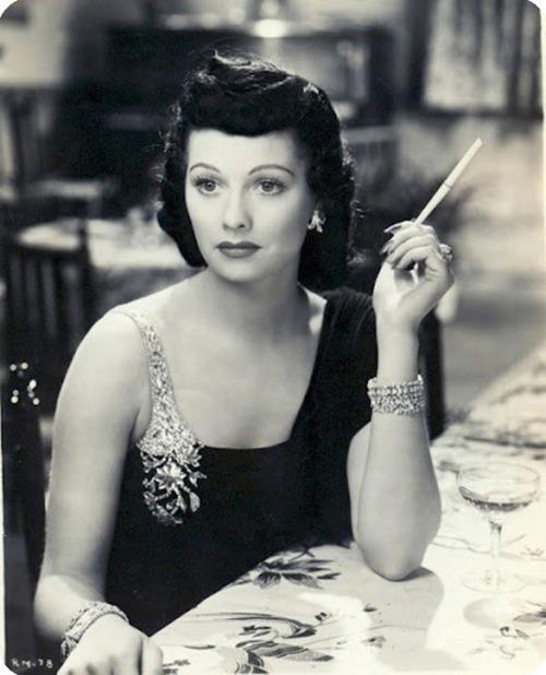 Lucille Ball with dark hair, 1930s