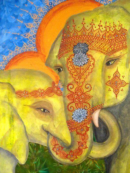 Mousie Masala elephant illustration India