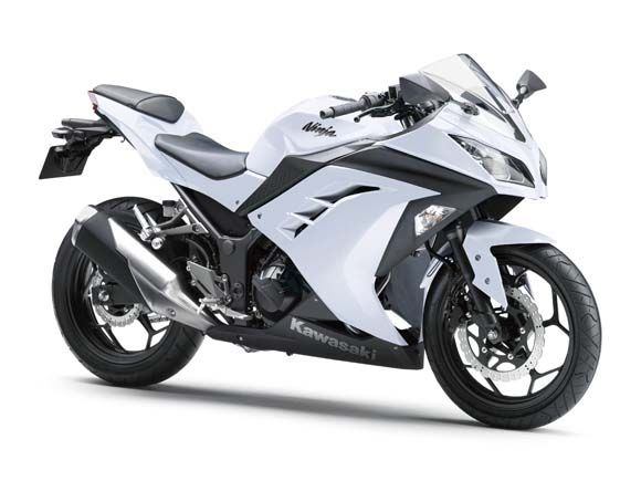 ninja 250. white. I thought I wanted all black but now..