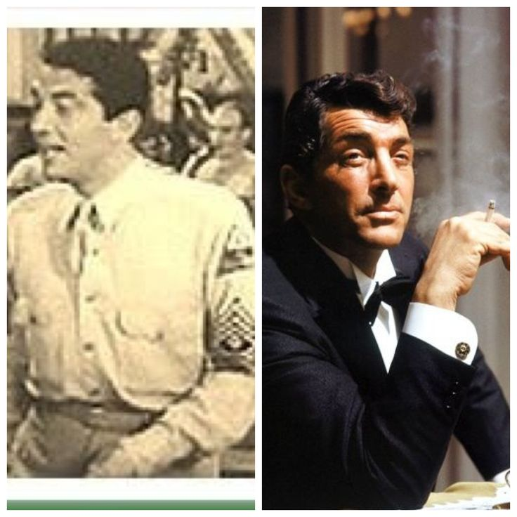 Dean Martin (born Dino Paul Crocetti; June 7, 1917 – December 25, 1995) was an American singer, actor, comedian, and film producer. Martin was drafted into the United States Army in 1944 during World War II, serving a year in Akron, Ohio. He was reclassified as 4-F and discharged (possibly because of a double hernia).