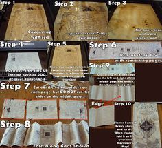 OMG! This is the best thing I've ever found! :3 How to make your own Marauder's Map!!!! Click the link to go to the site and see the instructions step by step or see the larger version of the picture above!!