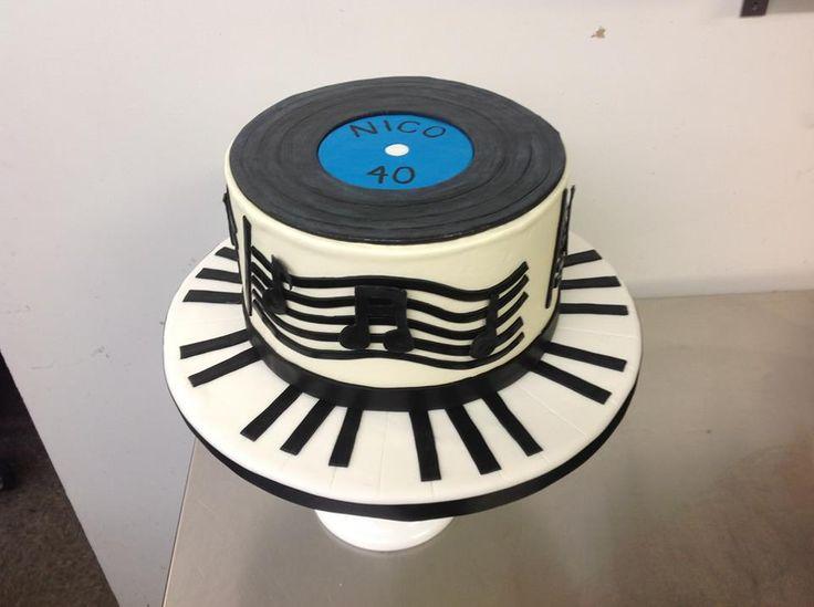 Vinyl Record Music Cake
