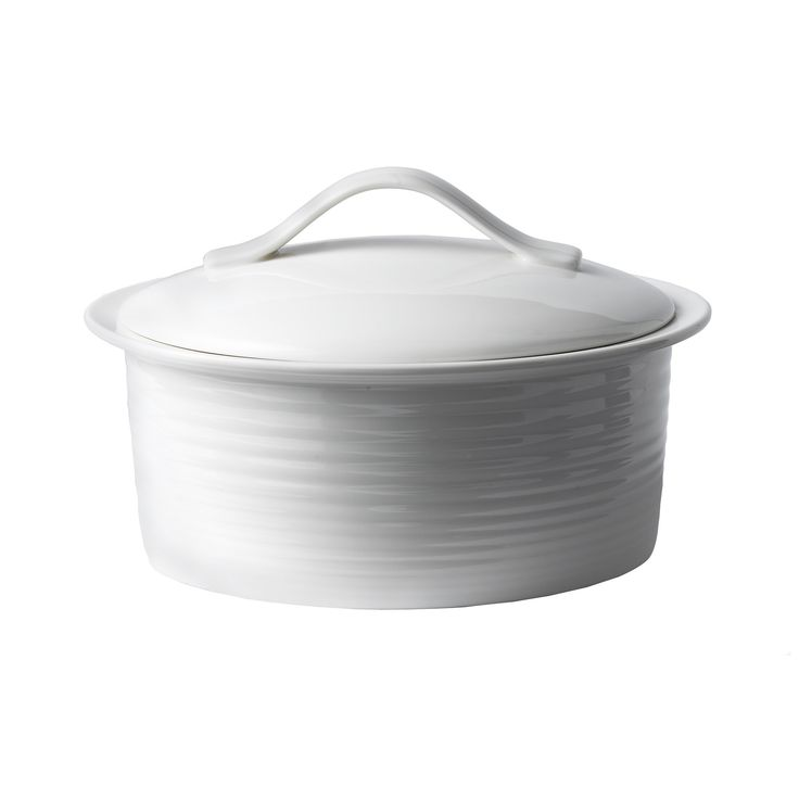 Gordon Ramsay Oven-to-Table Bakeware 2 Qt. Porcelain Round Casserole