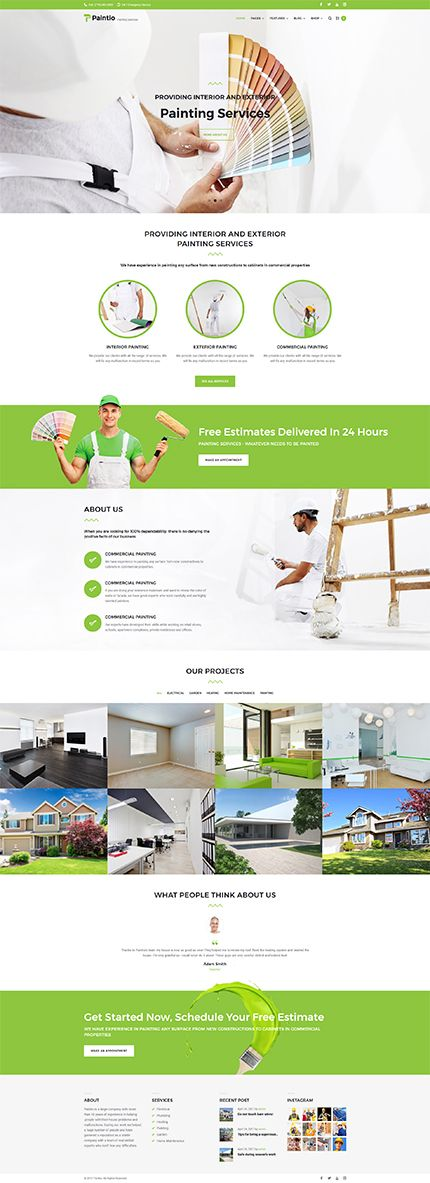 Quality Painting Services #Wordpress #template. #themes #business #responsive #Wordpressthemes