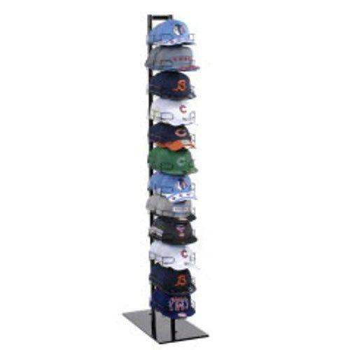 "New 12 Tier Baseball Hat Rack Display Tower Black 73"" H x 12 1/2"" W x 14 1/2""D Hat Baseball Cap Rack http://www.amazon.com/dp/B00Q1KTX9C/ref=cm_sw_r_pi_dp_LtjFvb0BHNAA8"