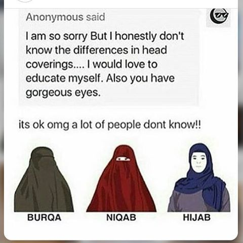 idk if this is correct i hope it is but how to you say the red and the blue one cause tbh i just all them all burqas because i don't know how to pronounce the other ones please help me edit