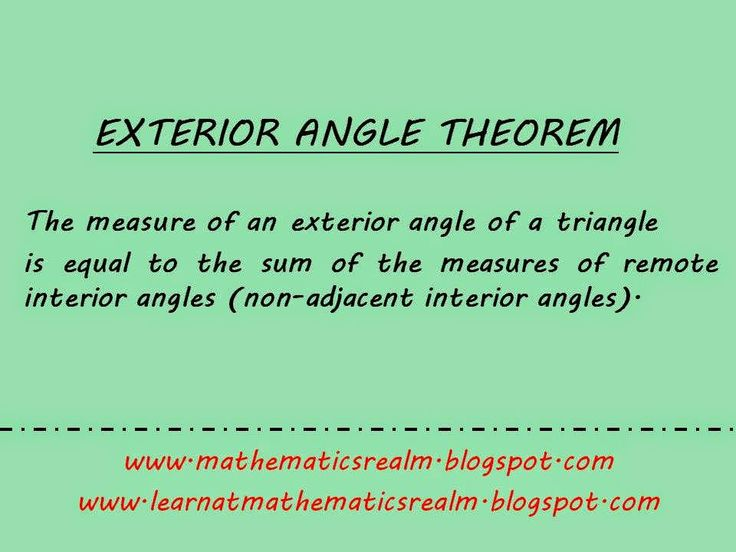 EXTERIOR ANGLE THEOREM (Part 2: Proof)