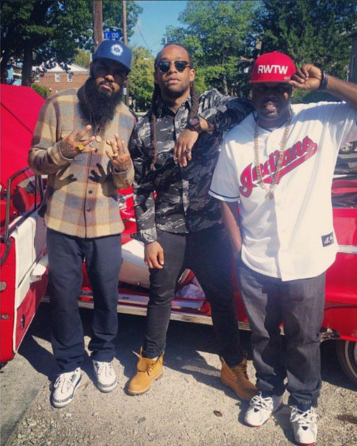 68524078cba428 ... where can i buy dj steph floss wearing air jordan vii 7 olympic stalley  wearing air