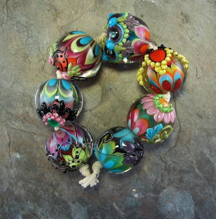 kaliu0027s fire lampwork bead set