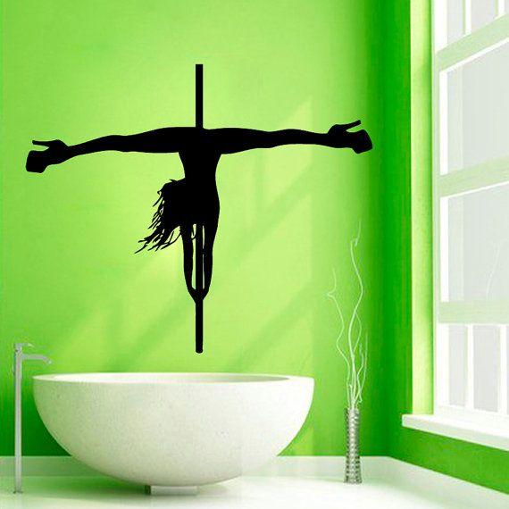 Pole Dance Wall Decals Striptease Girl Dancer Beauty Salon Decor Vinyl Decal Sticker Home Art Mural Wall Decor Woman Interior Design KG74