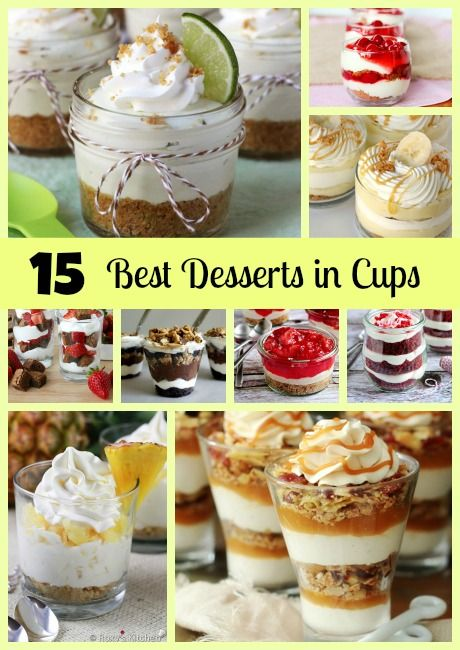 15 BEST Desserts in Cups! See them all on www.prettymyparty.com.