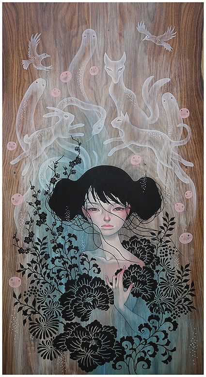 Mononoke by Audrey Kawasaki. These colors would make a gorgeous tattoo.