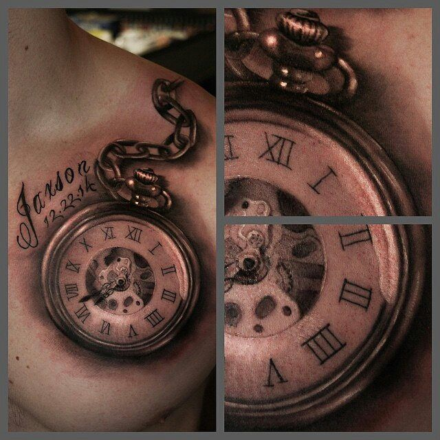 25 best ideas about tatouage horloge signification sur pinterest pocket watch tattoos - Tatouage horloge signification ...