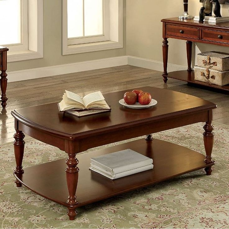 Benzara Samira Transitional Coffee Table In Walnut (Brown) Finish