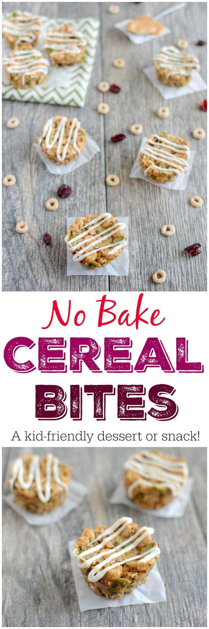 No Bake Cereal Bites