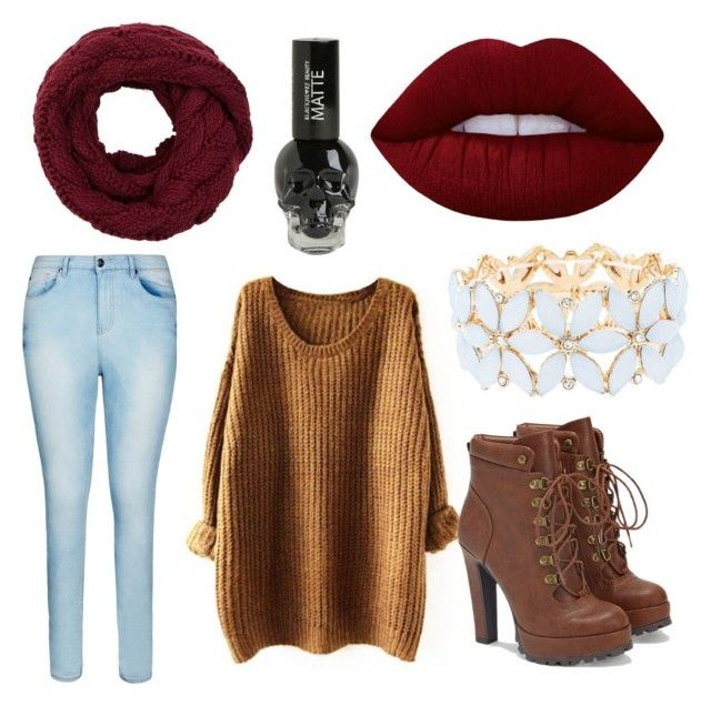 Fall MooD by dagny2215 on Polyvore featuring polyvore fashion style City Chic JustFab Charlotte Russe Lime Crime clothing
