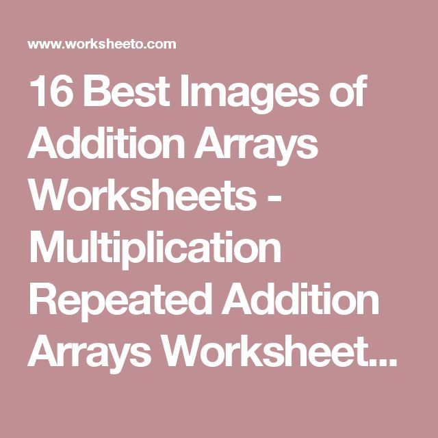 Best 25+ Repeated addition worksheets ideas on Pinterest ...