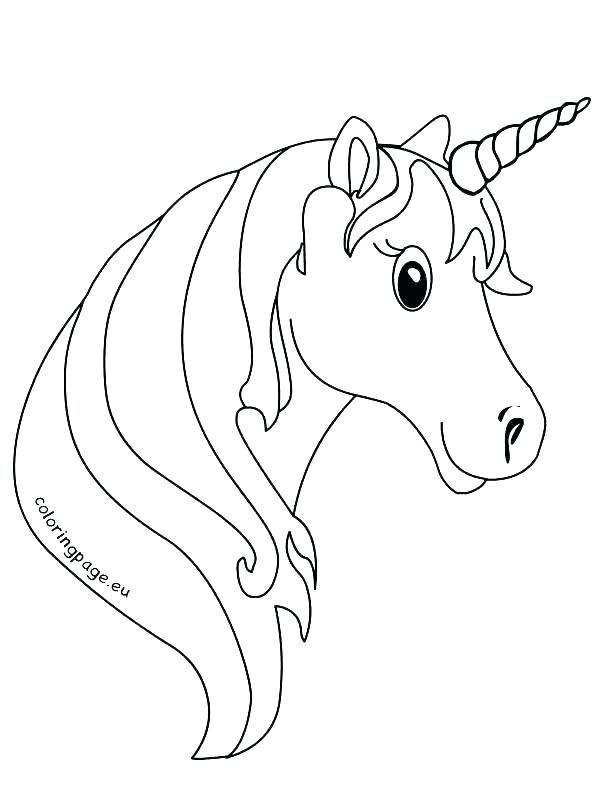 Image Result For Coloring Page Of Horse Head Einhorn Kopf Einhorn Zeichnen Ausmalbilder Einhorn