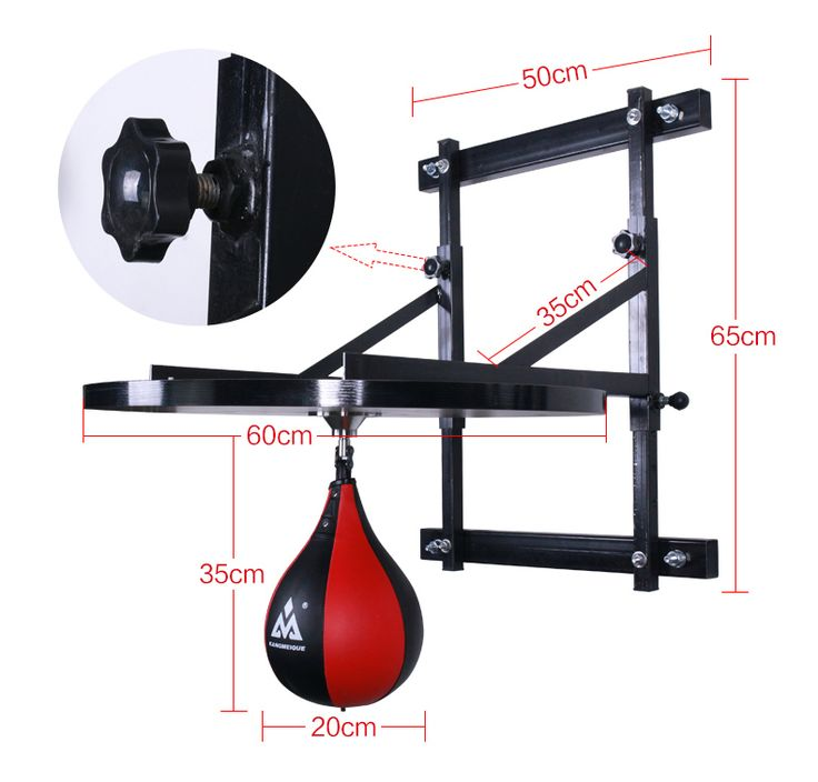 Adjustable Professional  Boxing Ball Hanging vent speedball Hanging Pears ball with holder+plate  #Affiliate