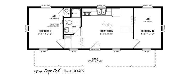 11 best images about 16 39 x40 39 cabin floor plans on for 16 x 50 floor plans
