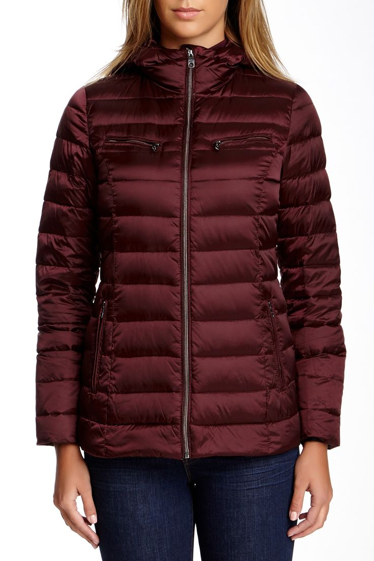 Hooded Puff Zip Down Jacket by Cole Haan on @nordstrom_rack $130