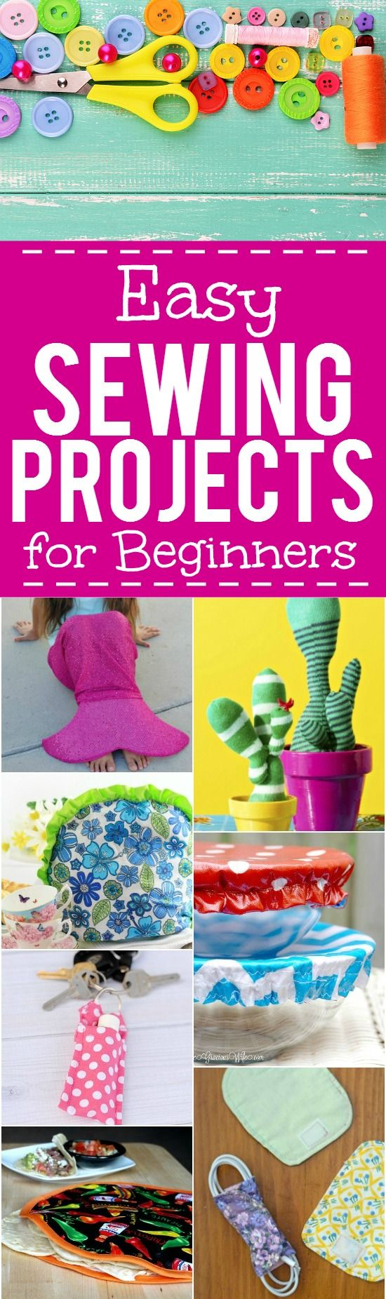 56 Quick and Easy Sewing Projects for Beginners –If you're new to sewing o…