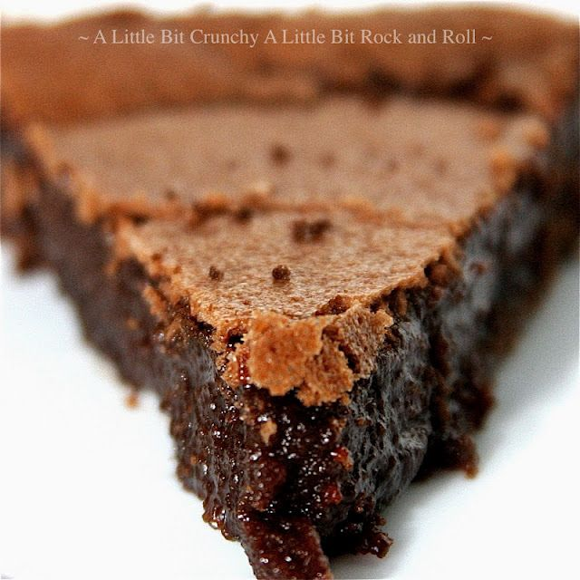 Chocolate Chess Pie  Recipe from A Little Bit Crunchy A Little Bit Rock and Roll