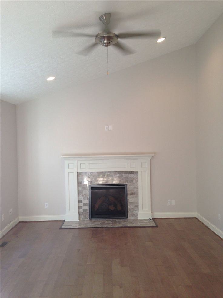 Mohawk flooring  5 12 Rockford Maple in Flint Fireplace I designed and walls are Sherwin