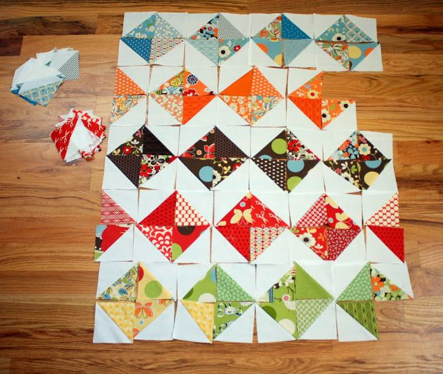 Diary of a Quilter - a quilt blog: Playing with Half-Square Triangles